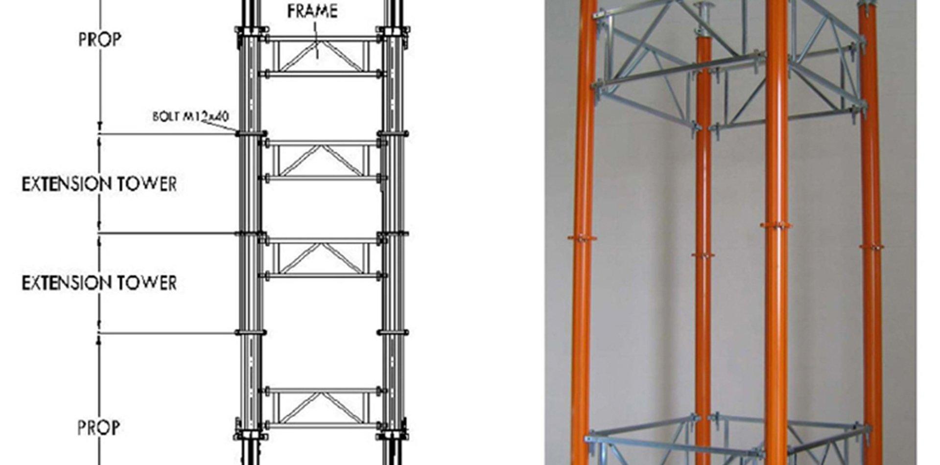 Tower Aluminium Props | Farina Formworks